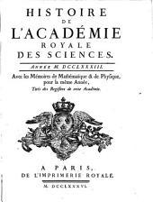 Histoire de l'Académie Royale des Sciences: avec les mémoires de mathématique et de physique pour la même année : tirés des registres de cette Académie. 1783 (1786)