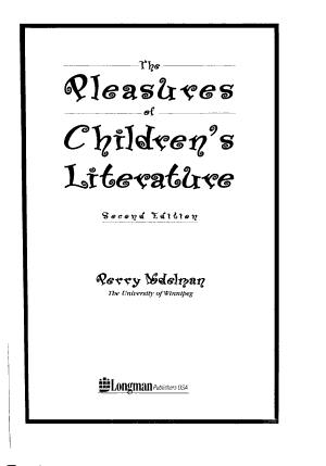 The Pleasures of Children s Literature PDF