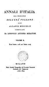 Annali d'Italia dal principo Dell'era Volgare