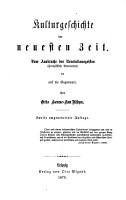 Allgemeine Kulturgeschichte von der Urzeit bis auf die Gegenwart  bd  Die neueste Zeit PDF