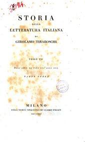 Storia Della Letteratura Italiana Tomo VII