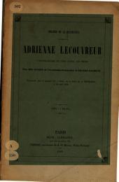 Adrienne Lecouvreur: comedie-drame en cinq actes en prose