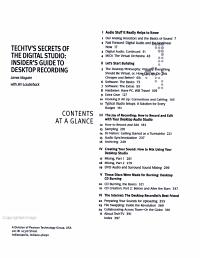 Techtv s Secrets of the Digital Studio PDF