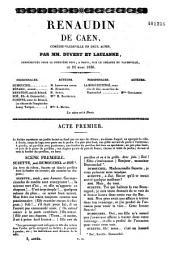 Renaudin de Caen: comédie-vaudeville en deux actes