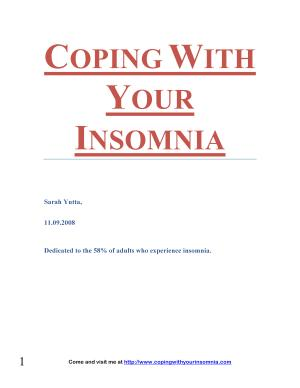 Coping With Your Insomnia