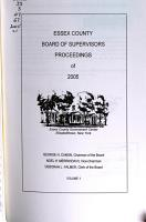 Proceedings of the Board of Supervisors of Essex County PDF