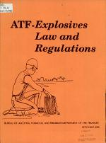 ATF-explosives Law and Regulations