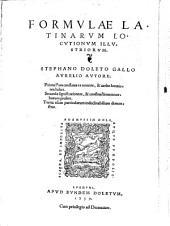 Formulae latinarum locutionum