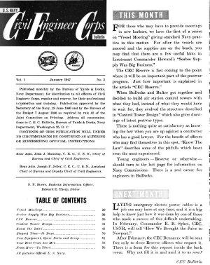 U S  Navy Civil Engineer Corps Bulletin