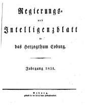 Regierungs- und Intelligenzblatt für das Herzogtum Coburg: 1851