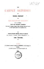 Le cabinet satyrique, ou, Recueil parfaict des vers piquans et gaillards de ce temps: Volume3
