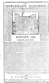 The gentleman's Magazine: and Historical Chronicle for the year 1809