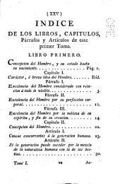 Historia de la vida del hombre: Tomo primero ; Concepción, nacimiento, infancia y niñez del hombre