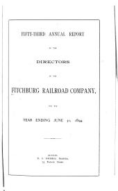 Annual Report of the Directors of the Fitchburg Railroad Company to the Stockholders