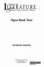 Open book tests PDF