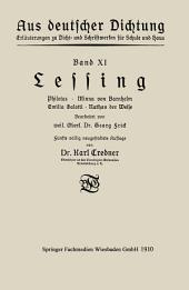 Lessing: Philotas · Minna von Barnhelm · Emilia Galotti · Nathan der Weise, Ausgabe 5