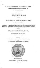 Proceedings of the Annual Convention: Volume 17
