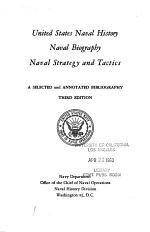 United States Naval History, Naval Biography, Naval Strategy and Tactics