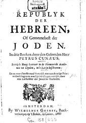 De republyk der Hebreen, of gemeenebst der Joden: Volume 1