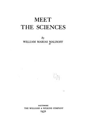 Meet the Sciences PDF
