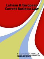 Latvian   European Current Business Law PDF