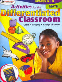 Activities for the Differentiated Classroom  Math  Grades 6   8 PDF
