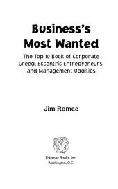 Business's Most Wanted: The Top 10 Book of Corporate Greed, Eccentric Entrepreneurs, and Management Oddities