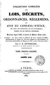 collection complete des lois, decrets, ordonnances, reglemens, et avis du conseil-d'etat