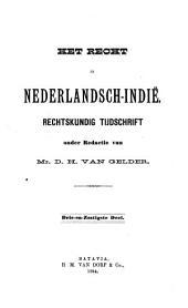Indisch tijdschrift van het recht: orgaan der Nederlandsch-Indische juristen-vereeniging, Volume 63