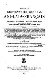 Nouveau dictionnaire général anglais-franc̦ais ...