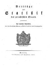 Beiträge zur Statistik des preußischen Staates