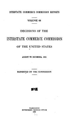 Interstate Commerce Commission Reports PDF