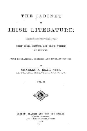 The Cabinet of Irish Literature