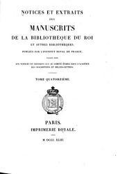Notices et extraits des manuscrits de la Bibliothèque nationale et autres bibliothèques: Volume14