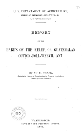 Habits of the Kelep, Or Guatemalan Cotton-Boll-Weevil Ant