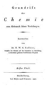 Grundriß der Chemie: Band 1