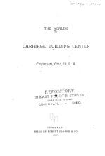 The World s Carriage Building Center  Cincinnati  Ohio  U  S  A  PDF