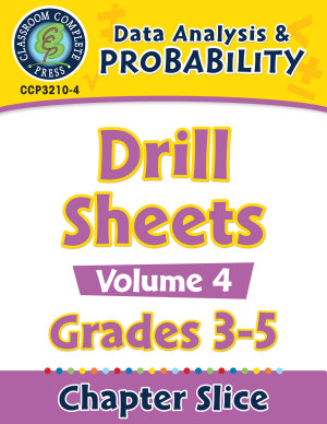 Data Analysis   Probability  Drill Sheets Vol  4 Gr  3 5
