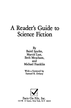 A Reader s Guide to Science Fiction PDF