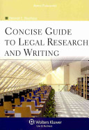 A Concise Guide to Legal Research and Writing PDF