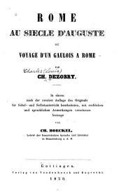 Rome au siècle d'Auguste, ou Voyage d'un Gaulois à Rome