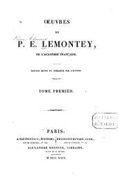 Oeuvres de P.E. Lemontey ...