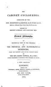 History of Natural Philosophy from the Earliest Periods to the Present Time ...
