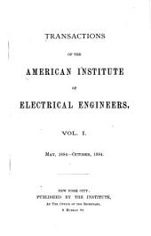 Transactions of the American Institute of Electrical Engineers: Volumes 1-4