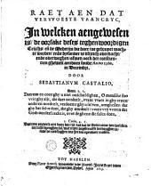 Raet aen dat verwoeste Vrancryc, in welcken aengewesen is, deses teghenwoordigen crijchs ... anno 1502