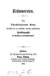 Träumereien [verses].