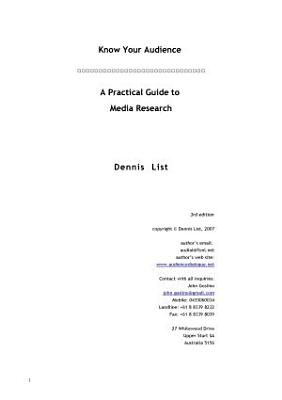 A Practical guide to media research PDF