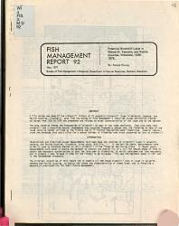 Potential Winterkill Lakes In Walworth Kenosha And Racine Counties Wisconsin 1935 1975 Book PDF