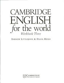 Cambridge English for the World 3 Workbook PDF