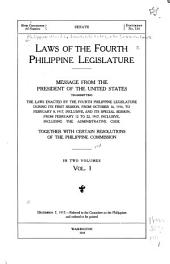 Laws of the First-Fifth Philippine Legislature ...: Issues 2664-2721